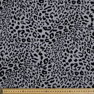 Leopard Flocked Unbrushed Fleece Fabric
