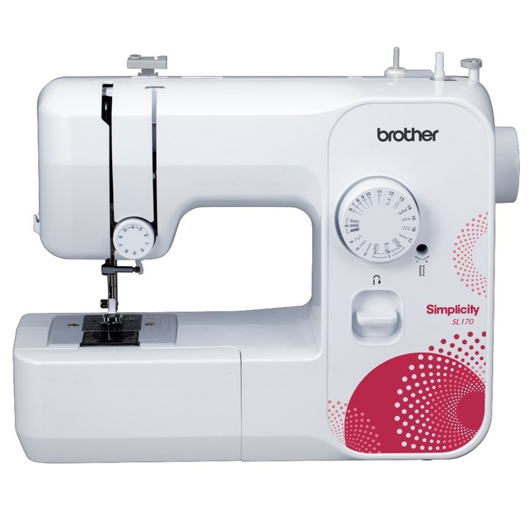 Brother By Simplicity SL170 Mechanical Sewing Machine White & Red