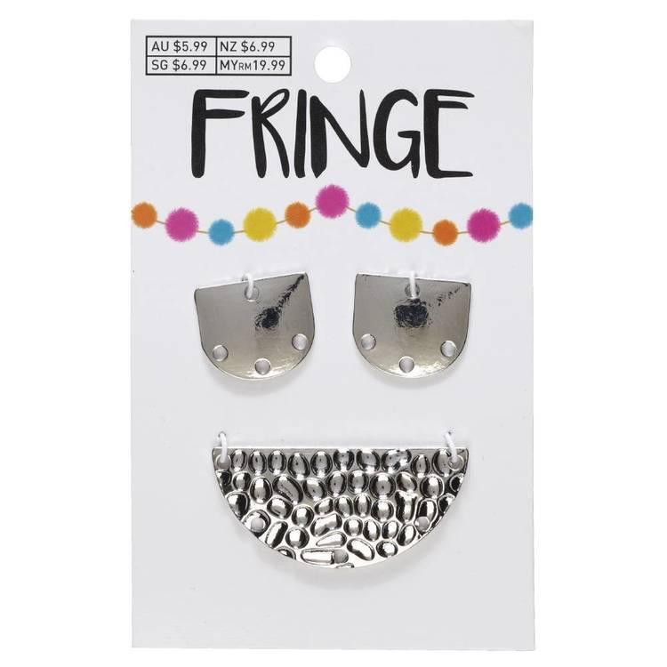 Fringe Hammered Metal Pendants