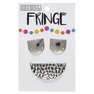 Fringe Hammered Metal Pendants