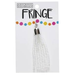 Fringe Faceted Bead Tassel