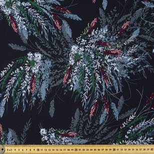 Printed Rayon Moonlight Floral Fabric