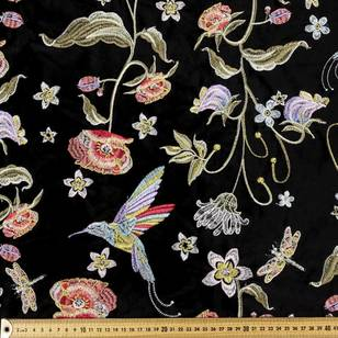 Oriental Velvet Embroidered Fabric