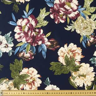 Camellia Printed Sateen Fabric
