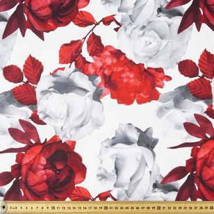 Roses Printed Sateen Fabric