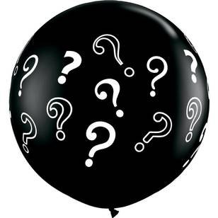 Qualatex Question Marks Round Balloon
