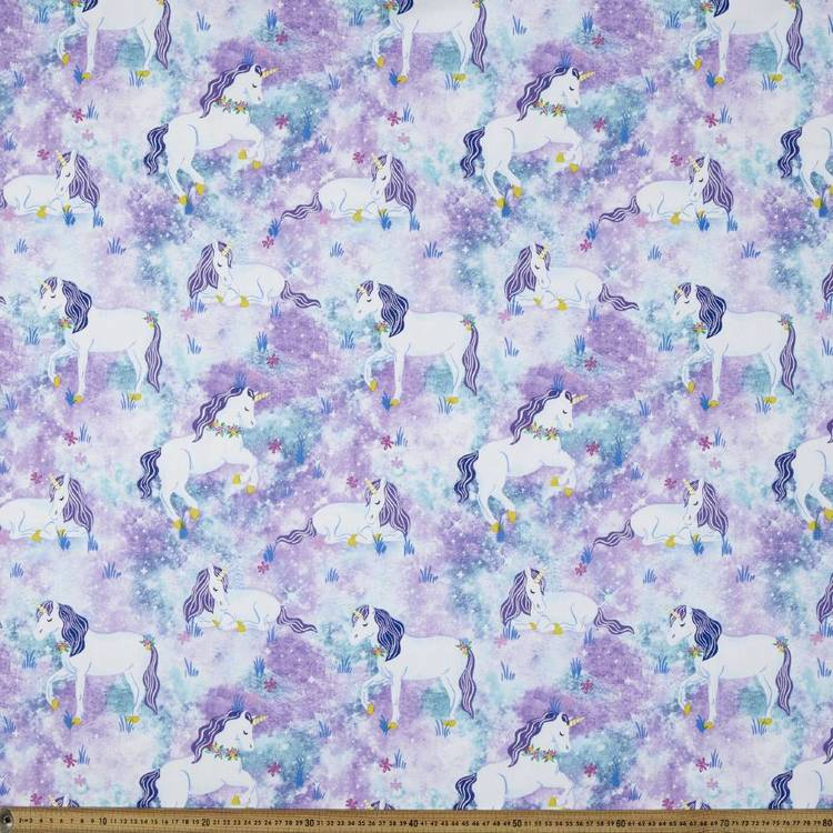 Unicorn Printed Decorator Blue 150 cm