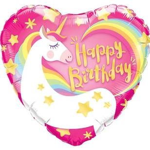 Qualatex Magical Unicorn Heart Foil Birthday Balloon