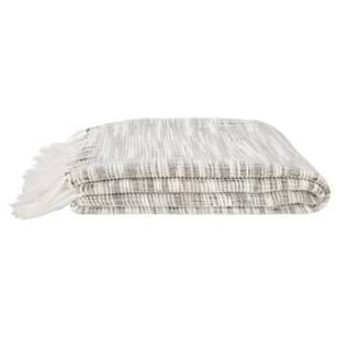 Bouclair Seaside Arianna Striped Throw with Tassels