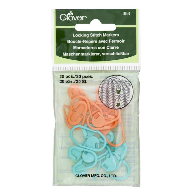 Clover Lock Stitch Markers