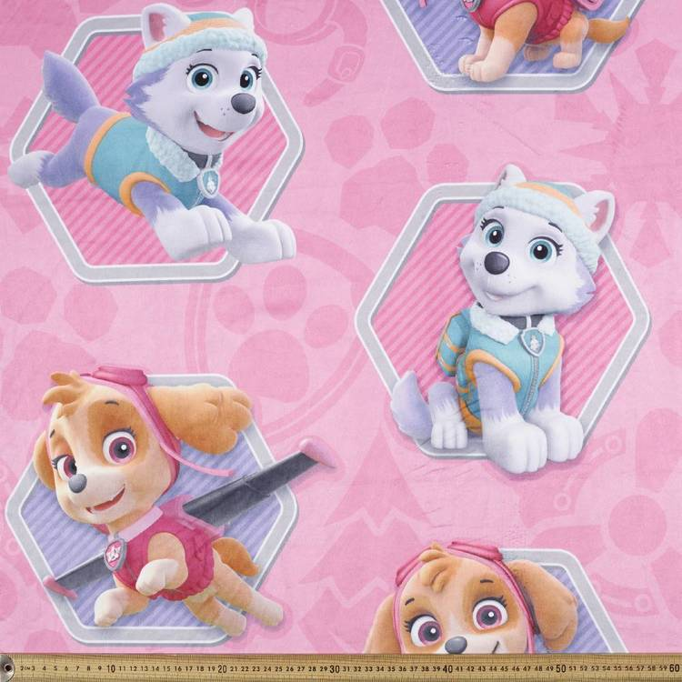 Paw Patrol Hex Allover Fleece Fabric