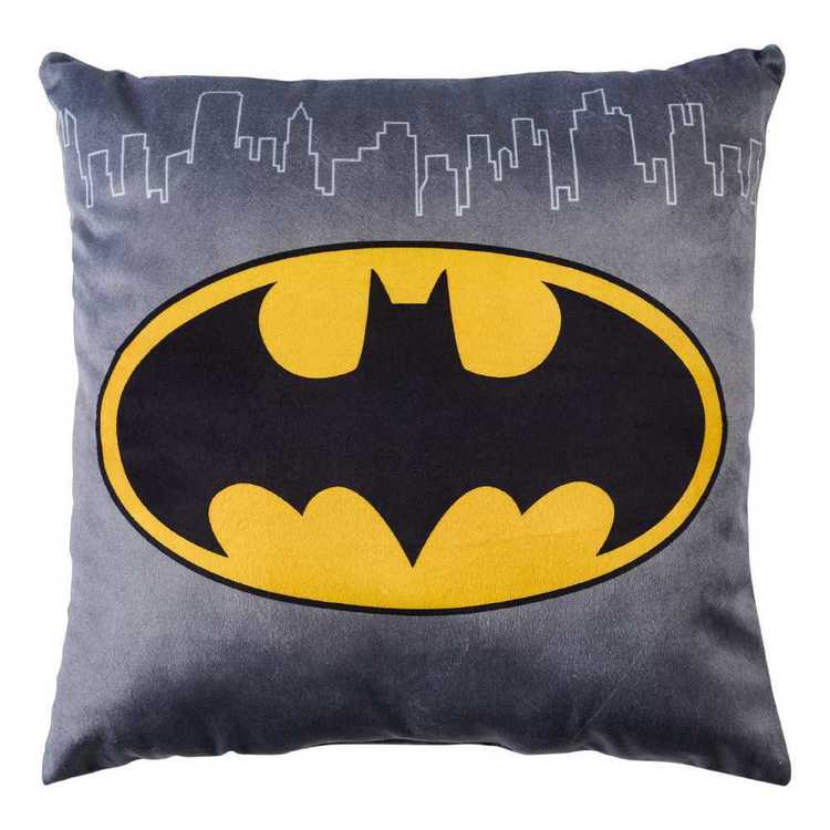 Batman Beware Cushion Black