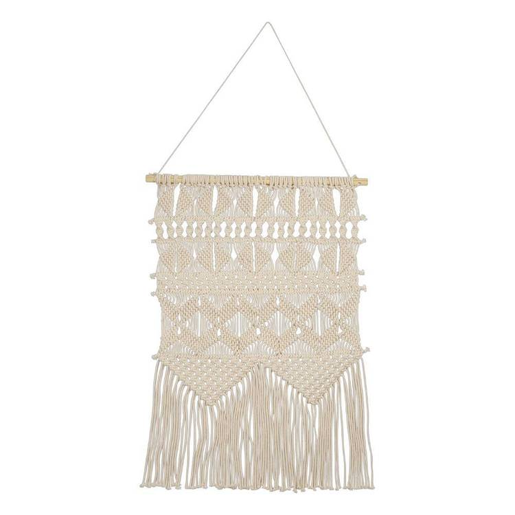 Living Space Hand Woven Macrame Demi Wall Hanging