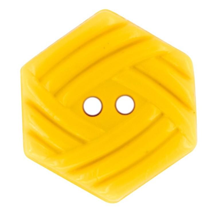 Hemline Novelty Hexagon Button