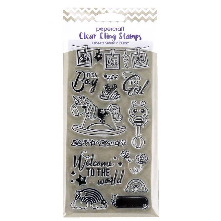 Papercraft Clear Cling Baby Stamps Clear