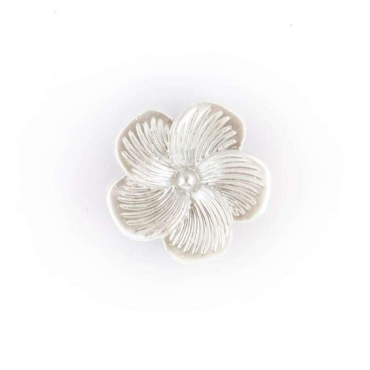 Hemline Novelty Pearled Flower Button