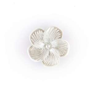 Hemline Novelty Pearled Flower Button