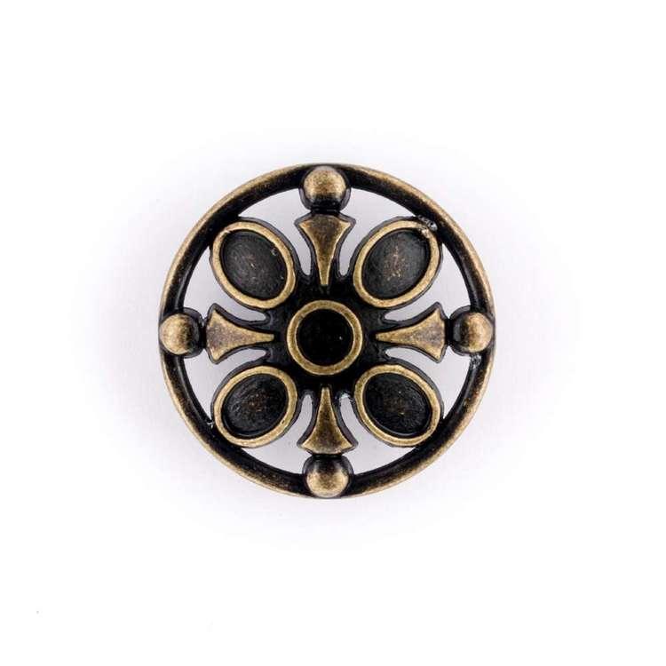 Hemline Metal Jewel Button