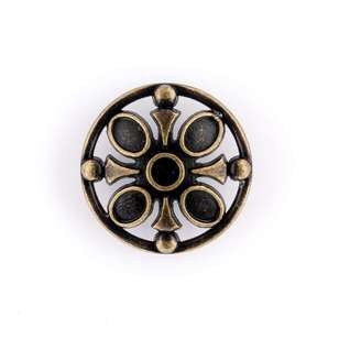 Hemline Metal Jewel Button