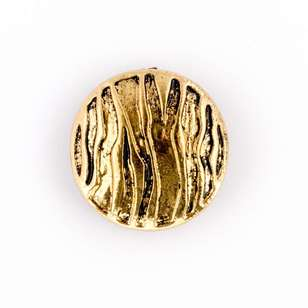 Hemline Metal Ripples Button