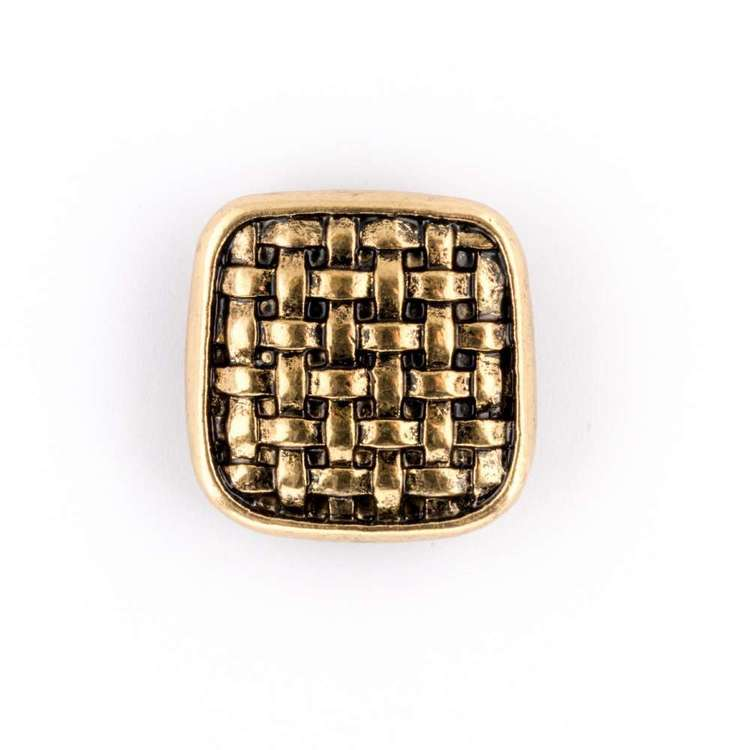 Hemline Metal Grid Button