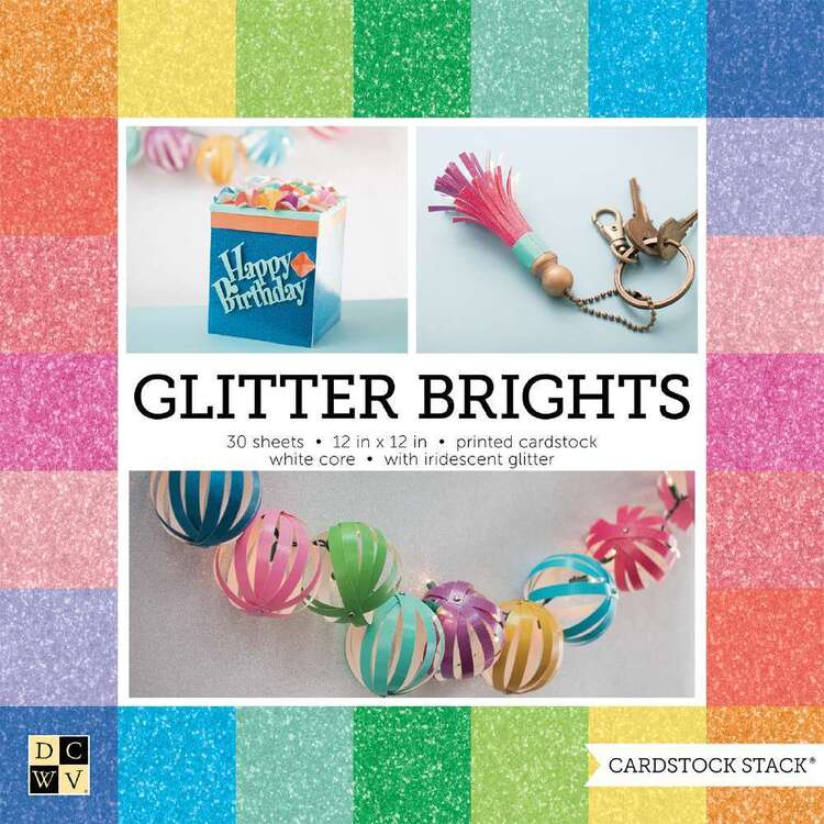 Die Cuts With A View Glitter Paper Pad