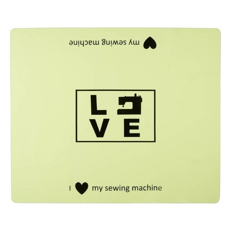 Sewing Machine Mat - Love Green - Everyday Bargain