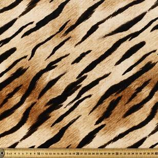 Tiger Printed Velour Fabric