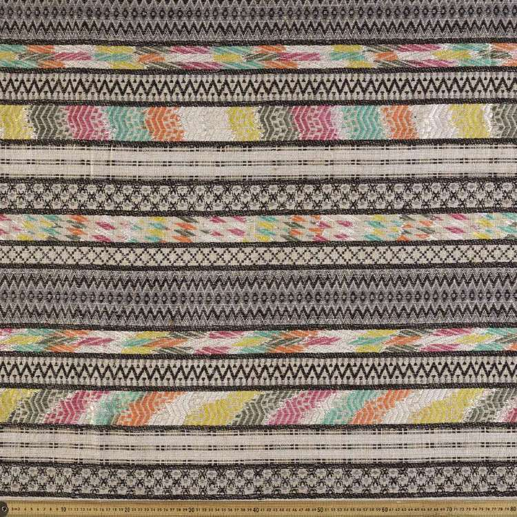 Stripe Pattern 112 cm Mexican Poncho Fabric