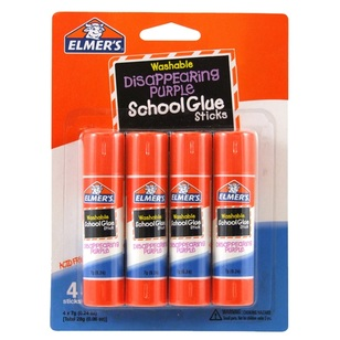 Elmer's Disappearing Purple School Glue Stick Pack