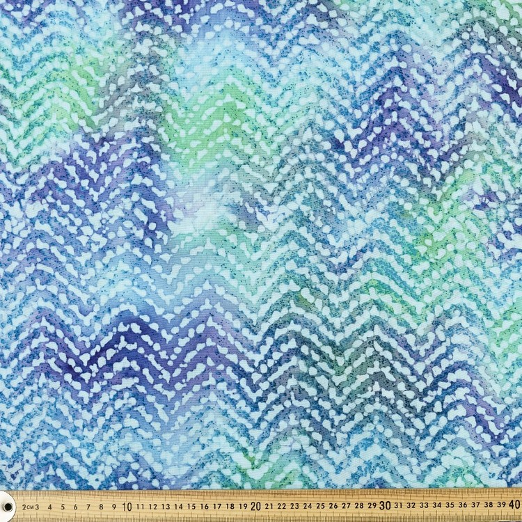 Printed Rayon Waves Fabric