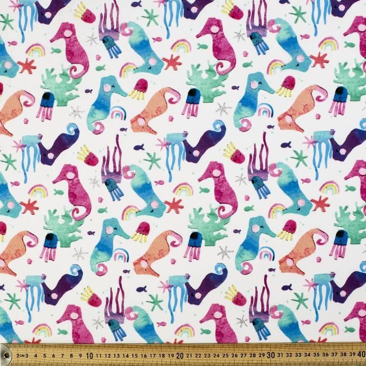 Laura Blythman Seahorse Printed Quilting Fabric