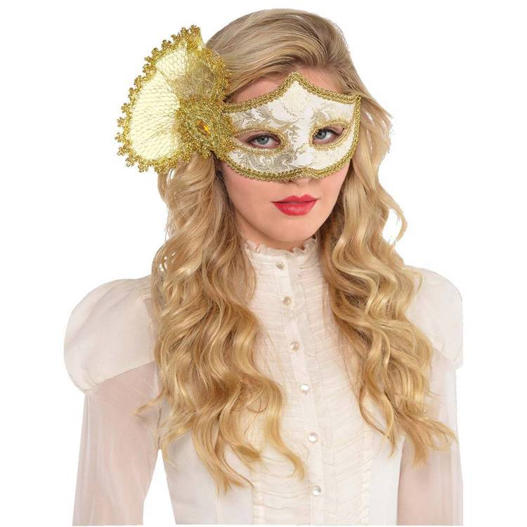 Amscan Mask Gold Parisian