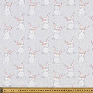 Sweet Bunny Printed Flannelette Fabric