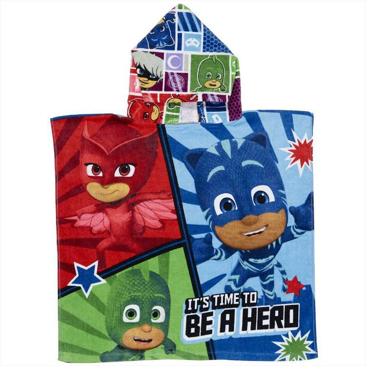 PJ Masks Hooded Towel Blue