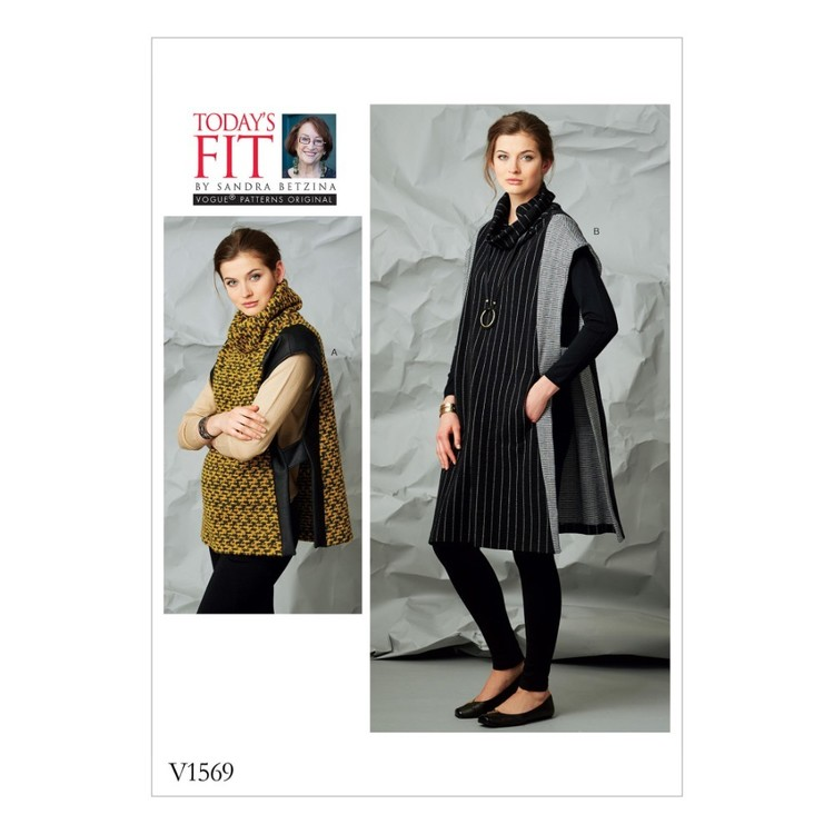 Vogue Pattern V1569 Today's Fit By Sandra Betzina Misses' Tabard With Contrast Panels