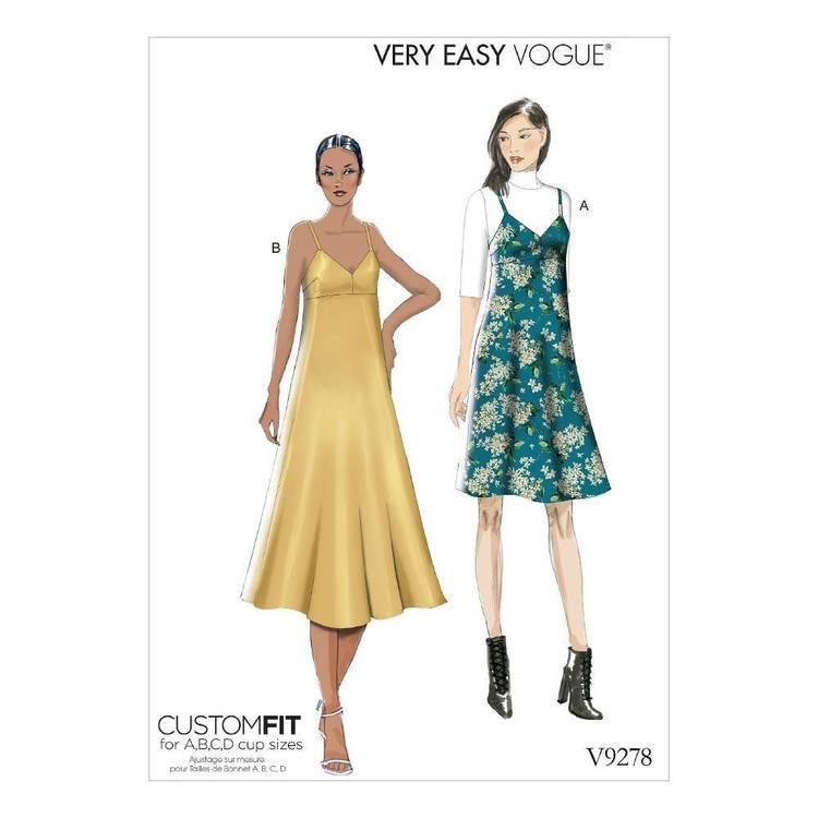 Vogue Misses' Slip-Style Dress With Back Zipper Pattern