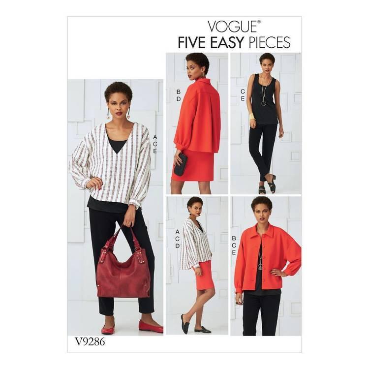 Vogue Pattern V9286 Misses' Tops