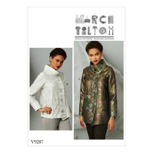 Vogue Pattern V9287 Misses' Jacket with Stand Collar and Extended Placket