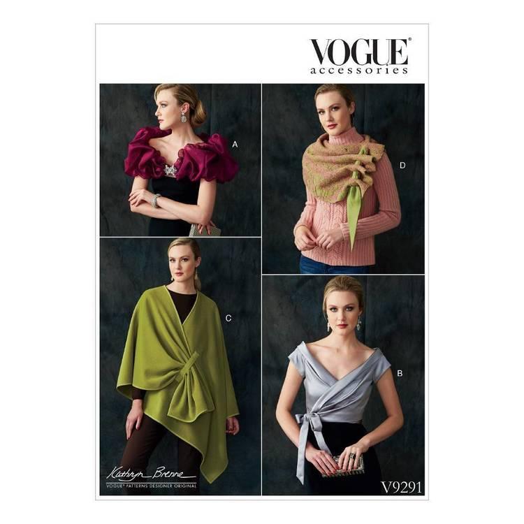 Vogue Pattern V9291 Misses' Wraps