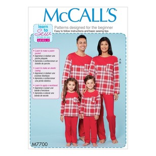 McCall's Pattern M7700 Men's/Misses'/Boys'/Girls'/Children's Top and Pants