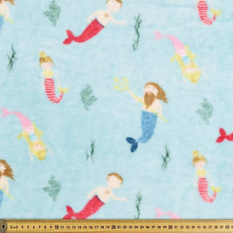 Merpeople Printed Micro Fleece Fabric
