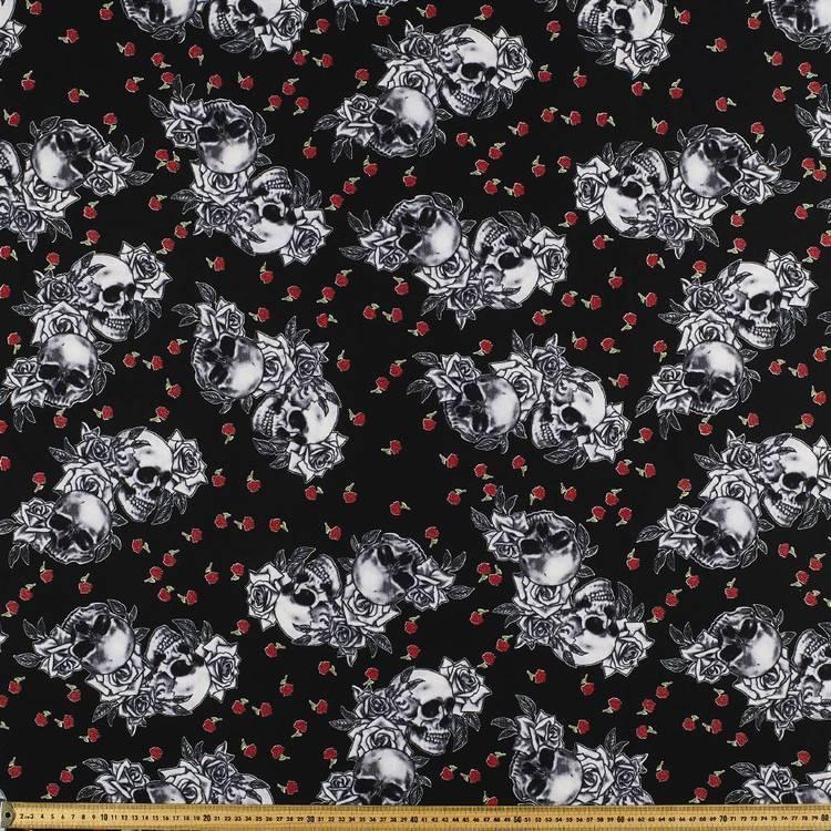 Skulls & Roses Fabric