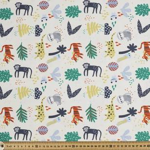 Printed Cotton Spandex Zoo Time 150 cm Fabric