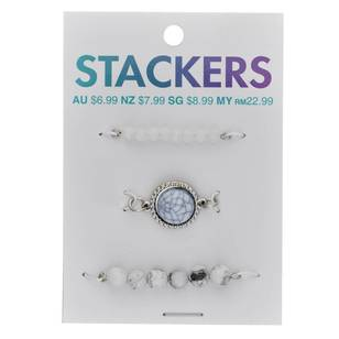 Ribtex Stackers Beaded stone Case Charm 3 Pack