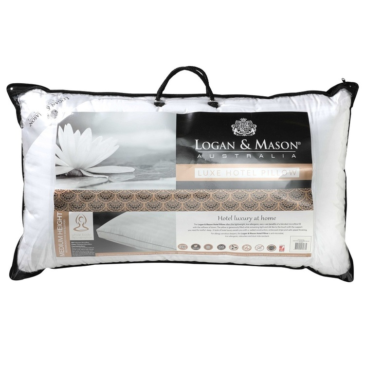 Logan & Mason Hotel Luxe Microfibre Pillow