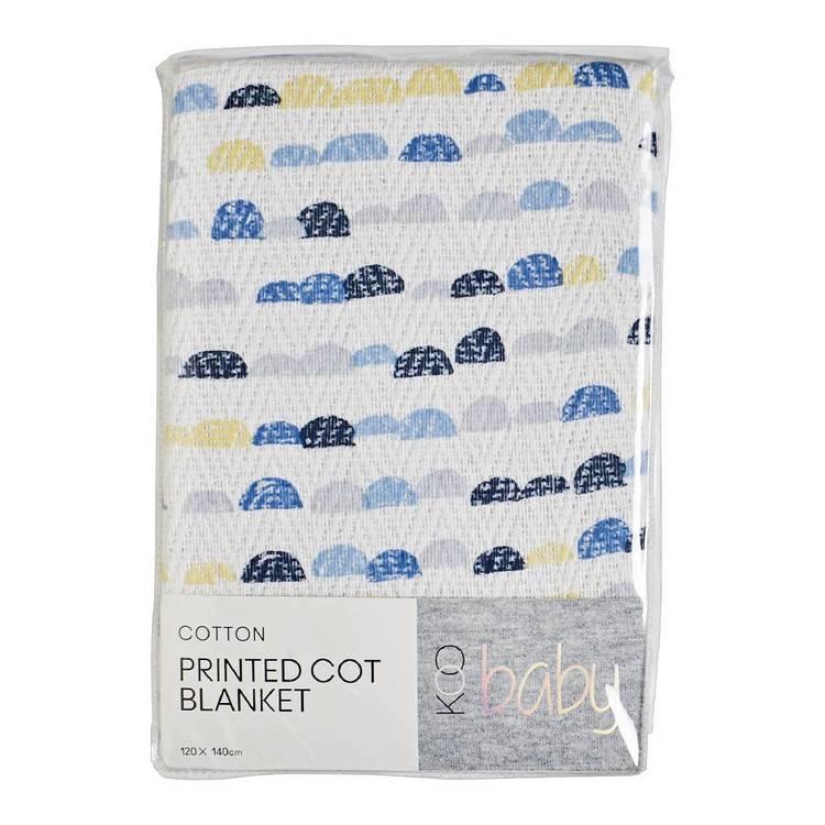 KOO Baby Rory Printed Cot Blanket