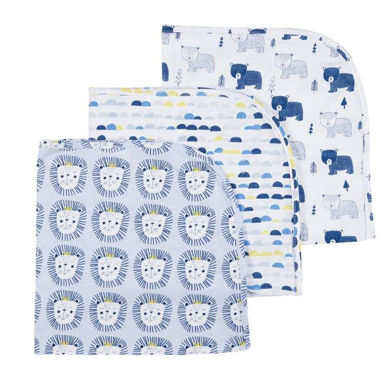 KOO Baby Rory Printed Jersey Wraps 3 Pack