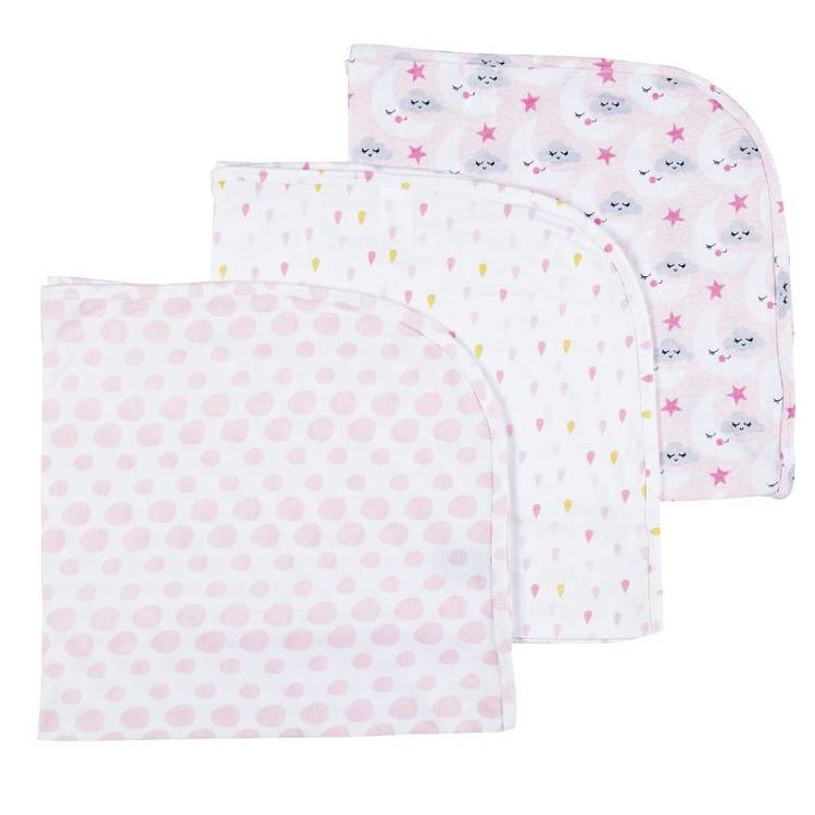 KOO Baby Lottie Printed Cotton Wraps 3 Pack