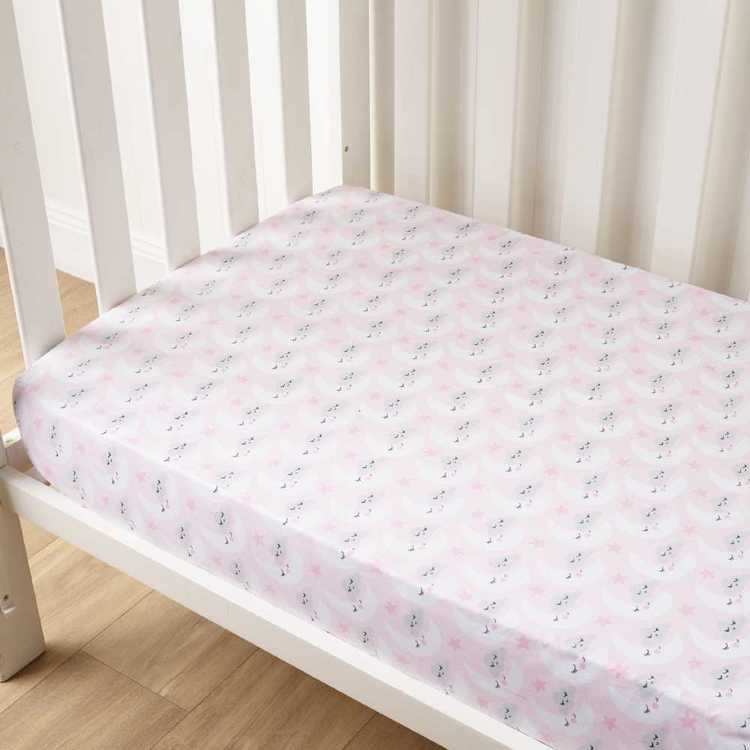 KOO Baby Lottie Printed Fitted Sheets 2 Pack